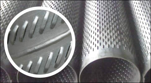 Slotted Tube Punched from Perforated Metal Sheets, Dies