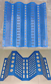 Perforated Steel Mesh Blue Painted