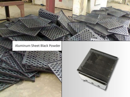 Decorative Mesh Perforated Sheet In Aluminum Powder Coated Black