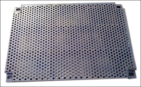 Round Hole Perforated Mesh Facade Ceiling Diffuser Non Slip Floor
