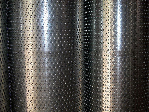 Diamond Hole Perforated Metal Wire Mesh Panels Materials