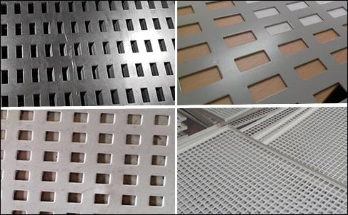 Square Hole Perforated Sheet Mild Steel Stainless Steel Aluminium Mesh Perforated In Square Hole Shape