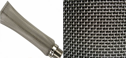Perforated Stainless Steel Mesh Sleeve Tubing