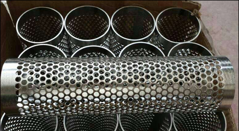 Slotted Tube Punched From Perforated Metal Sheets Dies